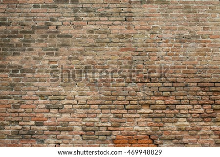 Old brick wall background.