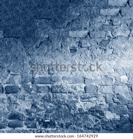 old brick wall background. abandoned house