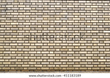 Old brick wall background exterior - stock photo