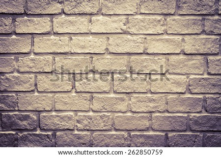 old brick wall background for interior - stock photo
