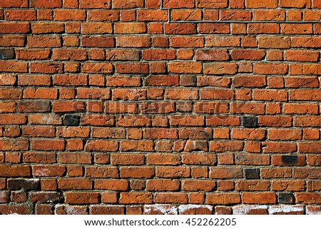 Old brick wall, background image - stock photo