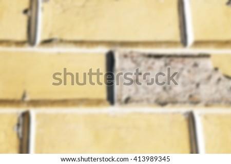 Old brick wall  , defocused - stock photo