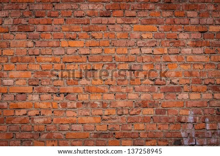 old brick wall for background - stock photo