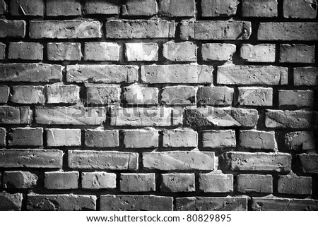 Old brick wall in retro style - stock photo
