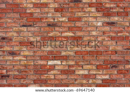 Old brick wall texture, architectural background - stock photo