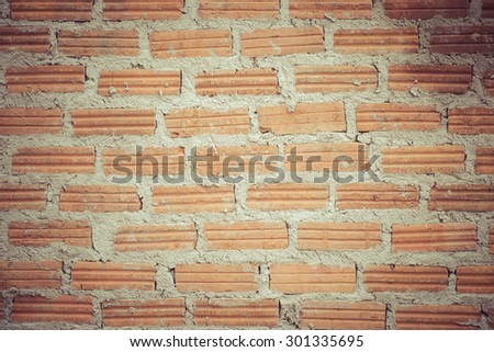 Old brick wall texture background,vintage - stock photo