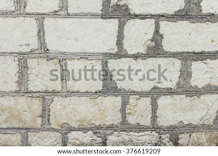 Old brick wall with cracks and scratches , background, texture