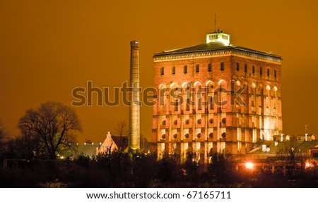 Old brick water tower, Wroclaw, Poland