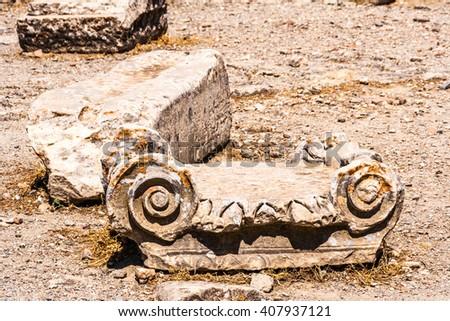 old bricks on Crete, Greece - stock photo