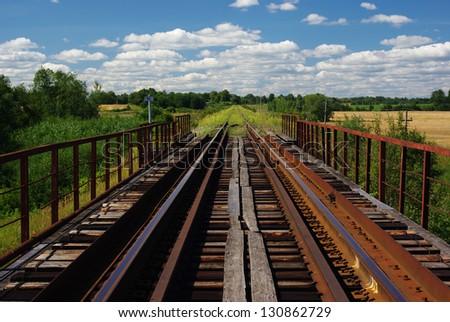 old bridge - stock photo
