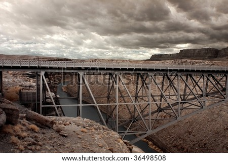 Old Bridge at Lee's Ferry Colorado River