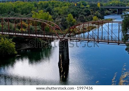 Old Bridge in Sacramento - stock photo
