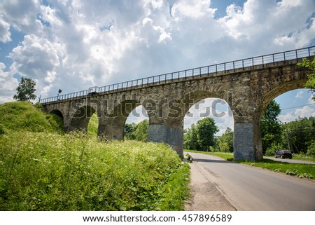 old bridge in Vorokhta in the Carpathian mountains