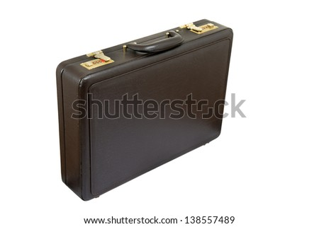 old briefcase with security lock combination number