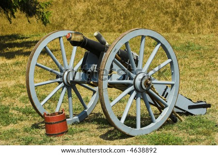 Old british cannon used during the War of 1812