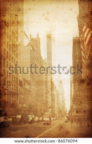 Old Broadway New York - stock photo