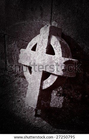 old broken celtic cross from north ireland co.tyrone
