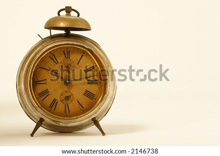 old broken clock - stock photo