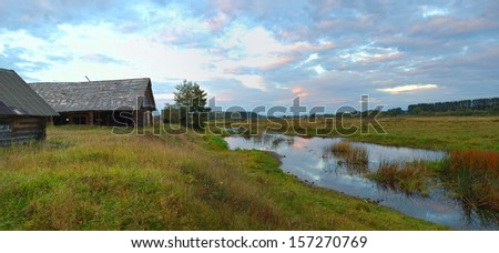 Old broken house - stock photo