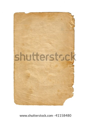 Old Broken Paper Texture - stock photo