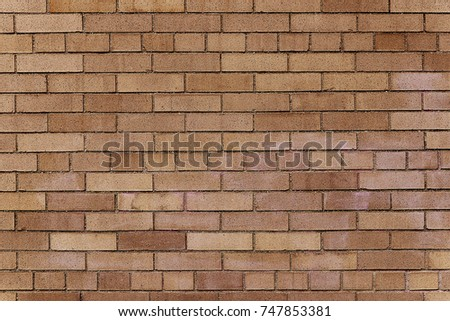 Old Brown Brick Wall Background Texture Close Up