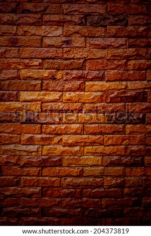 Old Brown Bricks Wall Pattern