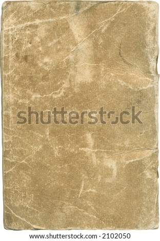 Old brown cover. Lots of grunge and wear. Plus work path along outside edges. - stock photo