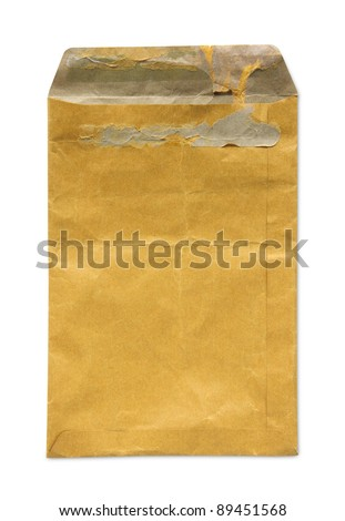 Old brown document envelope - stock photo