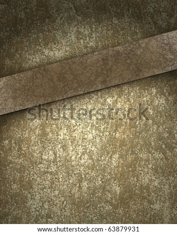 old brown layout with copy space and textured background - stock photo