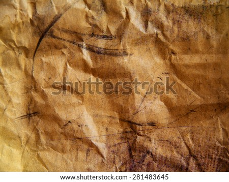 old brown paper background texture and close up - stock photo