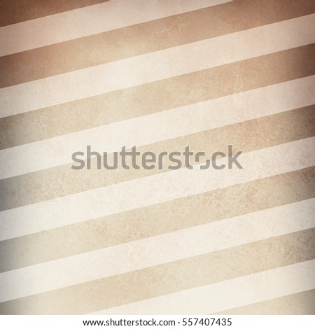 old brown paper background with vintage distressed texture and gray vignette border with white diagonal stripe pattern
