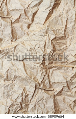 Old brown paper bag texture background. - stock photo
