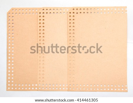 Old brown paper on a white background