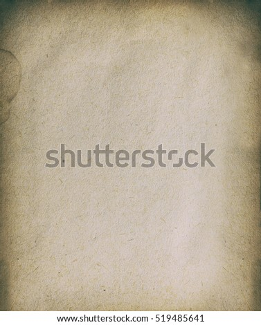 Old brown paper texture. Grunge dirty background