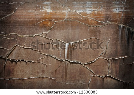 Old brown textured wall - stock photo