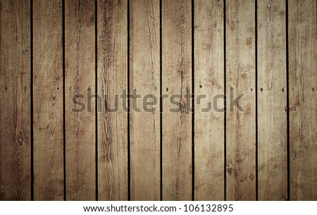 old brown timber  floor background - stock photo