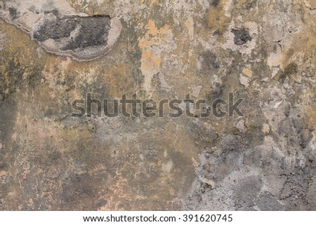 Old brown wall. Grunge background - stock photo