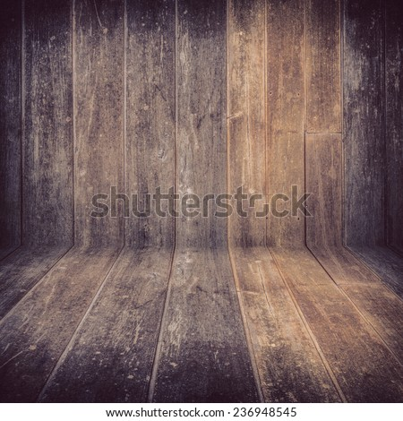 old brown wood plank texture background - stock photo