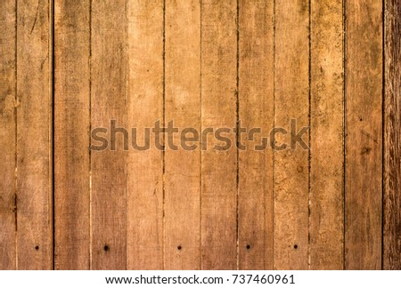 Old brown wood surface is flat. Old wood texture surface with grunge texture, top view of vintage wood and natural wood texture.