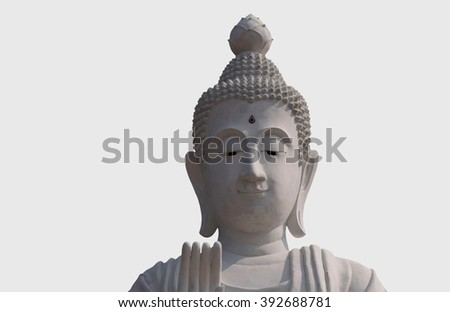 old Buddha head restrict matter this photo)  - stock photo