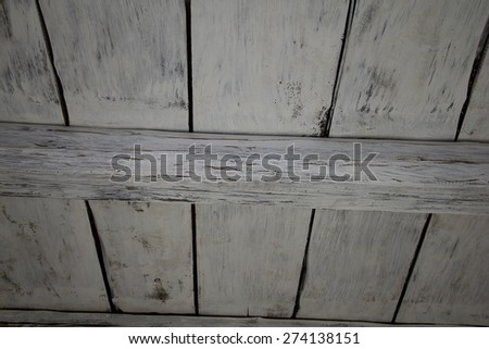 old building and white wooden ceiling - stock photo