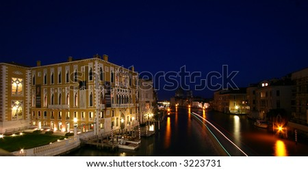 old building at canale grande - stock photo