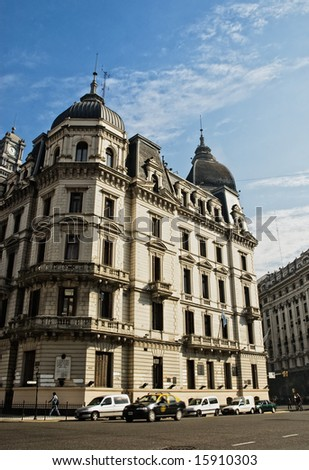 Old building, downtown Buenos Aires. - stock photo