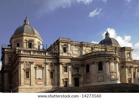 Old Building Facade In Rome, Italy - Sunny Summer Day