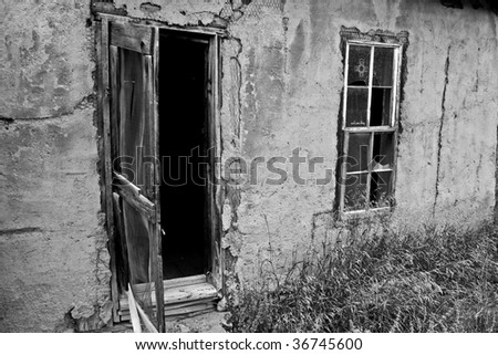 Old building in a ghost town - stock photo
