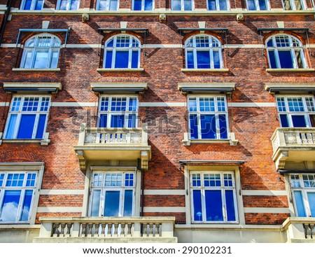 Old building  in Copenhagen, Denmark - stock photo
