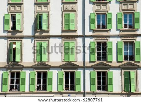 Old building in Switzerland, exterior - stock photo