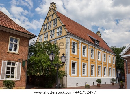 Old building in the historical center of Lingen, Germany