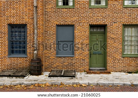 Old building on Main Street - stock photo
