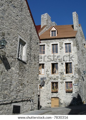 old building, quebec - stock photo